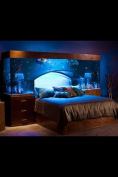 Fish tank bed. This would be so calming on those sleepless nights