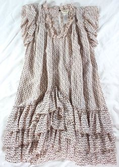 "~~~ BOHO-HIPPIE-CHIC ~~~ ISABEL MARANT ""RUFFLE TRIM"" STAR-PRINT DRESS ~ 1/S #IsabelMarant #Shift #Casual"