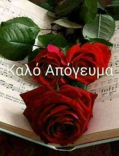 Good Afternoon, Good Morning, Beautiful Pink Roses, Greek Language, Greek Quotes, Good Night, Texts, Flowers, Happy Birthday