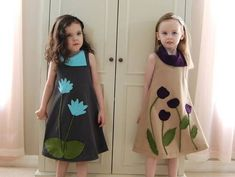 New dresses with 3 dimensional appliques - CLOTHING DIY, patterns, tutorials, recipes, gift ideas, knitting, crochet, and much more on Craftster.org