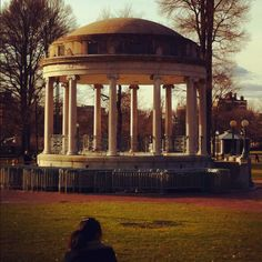 Gazebo on the Boston Common.