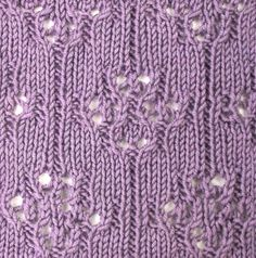 Japanese Florets, an easy to work eyelet pattern found in the Japanese Lacy category.