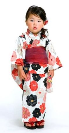 Japanese Summer Kimono for Girls Kids Children Flowers Yukata 100 110cm | eBay