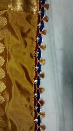 Saree tassels with two colour combination