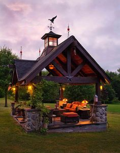 What a great outdoor living room! Would be so relaxing to be able to sit…