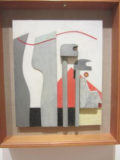 Kurt Schwitters, Untitled (Relief with Red Pyramid).