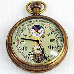 Vintage Pocket Watch; wrist watches must not be worn with a nice suit.
