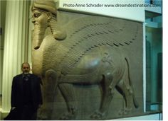 Assyrian winged lions British Museum London England