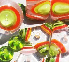 Citrus SamplerHandmade Lampwork Beads by BeadygirlBeads on Etsy