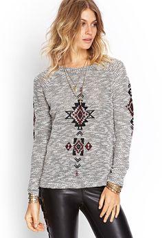FOREVER 21 Southwestern Pattern Sweater