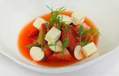 Sweet Eve strawberries with cobnuts and fennel - Adam Stokes