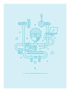 IAPI illustrations by Markus Magnusson, via Behance