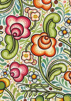 Bohemia White Main fabric by Julie Paschkis for In the Beginning Fabrics