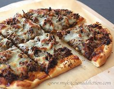 Slow-Cooked South Carolina Pulled Pork Pizza...we just did the pulled pork part, and it was delicious!!