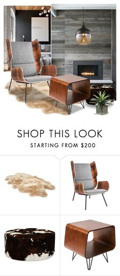 """""""WARM INSIDE"""" by tiziana-melera ❤ liked on Polyvore featuring interior, interiors, interior design, home, home decor, interior decorating, WALL, UGG, Gus* Modern and Le Coterie"""