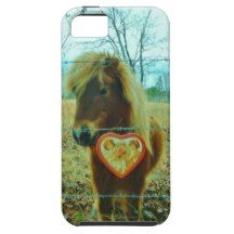 Miniature Brown horse Valentine Heart iPhone 5/5S Covers : hearts and horses