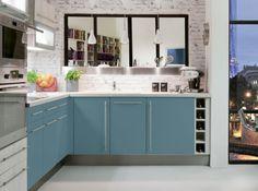 Une cuisine bleu-gris www.augusteetclaire.com | Aménager | Pinterest