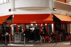Café Tomate stands on the corner of rue Saint-Maur and rue de la Fontaine au Roi in the Oberkampf district of Paris. http://www.parisinsights.com/restaurants.php