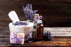 Still life with lavender. Health Photos