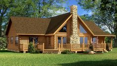 """The Red River"" is one of the many log cabin home plans from Southland Log Homes. You can customize the Red River to meet your exact needs with our free design tools."