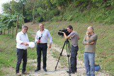 Ernesto Balbinot intervistato dalla troupe di RAI 2 per la trasmissione Eat Parade