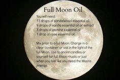 Full moon ritual oil