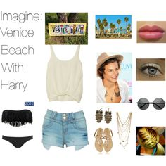 """Imagine: Venice Beach with Harry"" by mustachecastache98 on Polyvore"