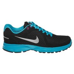 Nike Women's Air Relentless Running Shoes - Black and Turquoise, every woman needs a pair of gym shoes. >>I have these and have never loved a pair of gym shoes more!