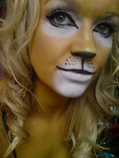 Excellent lion make-up, and easy to follow from the picture.