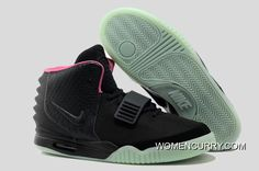 5946f9276cacb Glow In The Dark Nike Air Yeezy 2  Black Solar Red  Super Deals