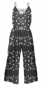 Ornate Patterned Stripe Tie Waist #Jumpsuit by #dflcprints