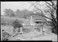 """""""Washday at the Stooksberry homestead near Andersonville, Tennessee. This old estate of 350 acres dates back to the Civil War American Civil War, American History, Tennessee Valley Authority, Still Picture, Photo Maps, Rural Area, Press Photo, Nara, Farm Life"""