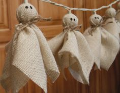 Hessian fabric and twine ghosts