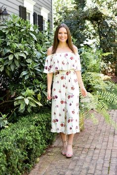 f693ade093 Ivory Off The Shoulder Floral Jumper - Dawn and Rae Boutique Online  Boutiques