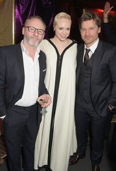 Pin for Later: It's Always Fun to See the Game of Thrones Cast Out of Costume Liam Cunningham, Gwendoline Christie, and Nikolaj Coster-Waldau Liam Cunningham, Game Of Thrones Cast, Got Dragons, Nikolaj Coster Waldau, Jaime Lannister, Winter Is Coming, Photo Galleries, It Cast, Handsome