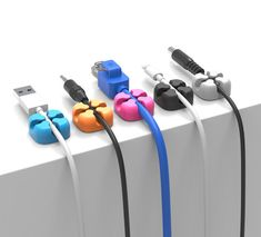 10Pcs Colorful Cable Holder