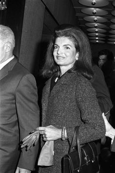 Jackie Kennedy attends the dedication of the new Whitney Museum of American Art, 1966.