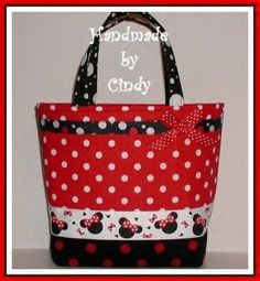 Minnie Mouse Purse Toddler Tote Bag Red Black White Polka Dot Dots ...