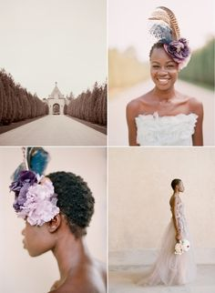 Beautiful bride with short natural hair. Yes!