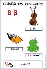 λεξεις απο βητα - Google-Suche Greek Language, Letters And Numbers, Learn To Read, Book Activities, Coloring Pages, Alphabet, Kindergarten, Blog, Education