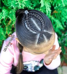 After several days of leaving. Two Braid Hairstyles, Cute Girls Hairstyles, Princess Hairstyles, African Braids Hairstyles, Middle Hair, Girl Hair Dos, Natural Hair Styles, Short Hair Styles, Viking Hair