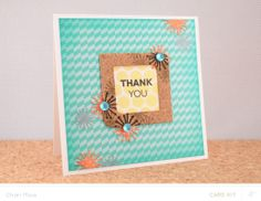 Flower Frame Thank You Card by charimoss at @Studio_Calico