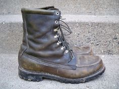Vintage Browning Leather Men's Hunting Birding Sport Work Chore Boots Size 12 EE #Browning #WorkSafety