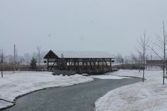 It snowed at Discovery Park of America in Union City, TN! #discoverypark