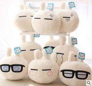 Singles shipping genuine expression of large three-dimensional cartoon cute bunny rabbit Chomsky plush doll pillow