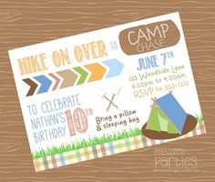 Camping invitation campout party invitation by bradfordroaddesigns camping invitation campout party invitation by bradfordroaddesigns 1500 theos birthday ideas pinterest camping invitations party invitations and filmwisefo