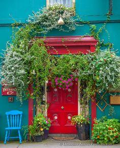 West Cork, Ireland: Colorful facade of the Bridge House Bed and Breakfast, in the village of Skibbereen County Cork Ireland, Galway Ireland, West Cork, Irish Eyes, Luck Of The Irish, Emerald Isle, Ireland Travel, Ireland Vacation, Doorway