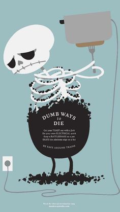 Dumb Ways to Die_Toast - Funny Cartoon iPhone wallpapers @mobile9