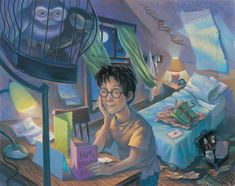 "16 Rare ""Harry Potter"" Illustrations From The Books' Artist --THIS Drawing of Harry Potter was what I grew up with as his face. :) I love seeing these pictures!"