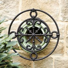 Wall Mounted Medallion Hose Holder | Ballard Designs | European-inspired